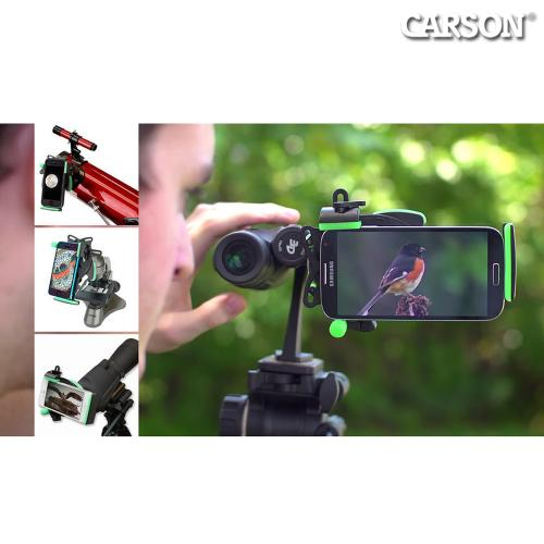 Carson HookUpz Universal Phone Adapter for Digiscoping - IS-100 [Attaches to telescopes, binoculars, microscopes, and more!]
