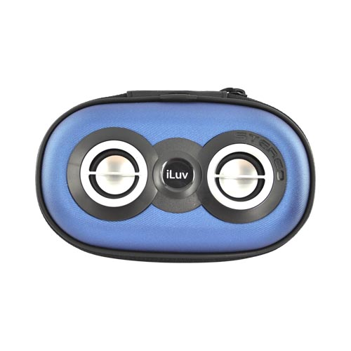 Original iLuv Apple iPod/iPhone/MP3 Portable Speaker Case, ISP110BLU - Blue