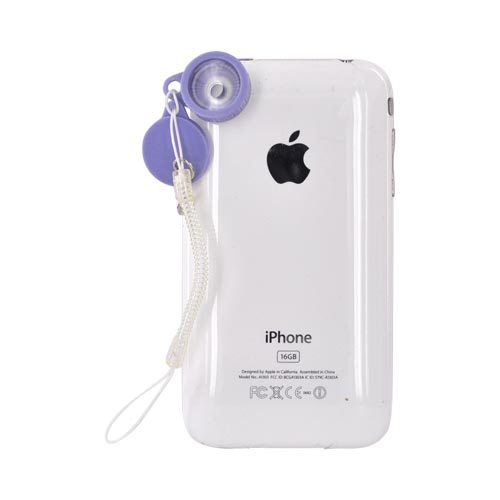 Original Kikkerland iPhone, iPad 2, Android Jelly Lens for Cell Phone Cameras w, Strap, JL10 - Starburst