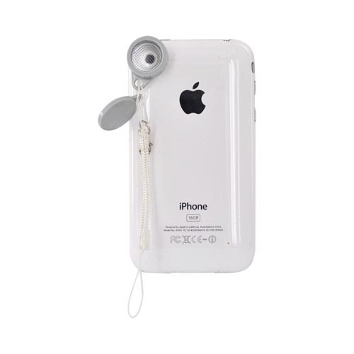 Original Kikkerland iPhone, iPad 2, Android Jelly Lens for Cell Phone Cameras w, Strap, JL12 - Spark