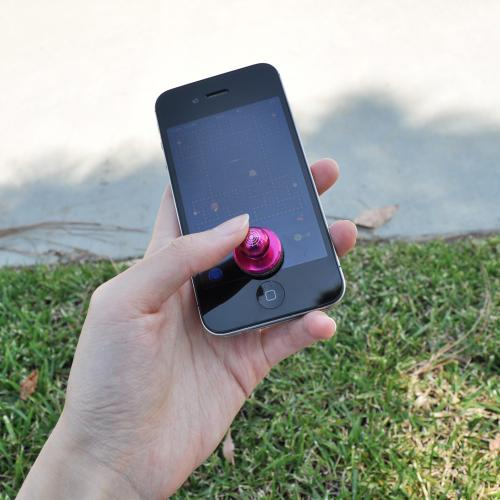 Hot Pink Metal Mini Joystick Controller for Touch Screen Devices