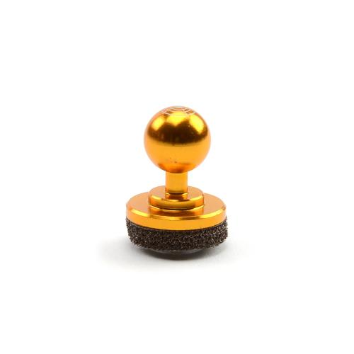 Orange Metal Mini Joystick Controller for Touch Screen Devices