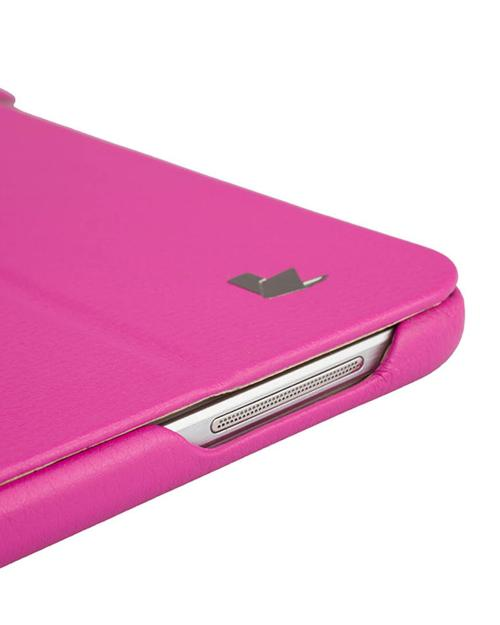 Jisoncase Rose Pink Handmade Vegan Friendly Leatherette Smart Cover Case for Samsung Galaxy Tab 3 10.1