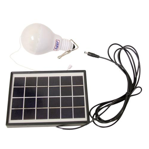 Solar Panel w/ LED Lamp Set - Perfect for Camping!