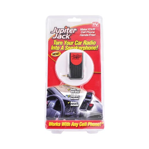 (AS SEEN ON TV) Jupiter Jack Hands-Free Universal Car Radio Speakerphone w, 6 Adapters