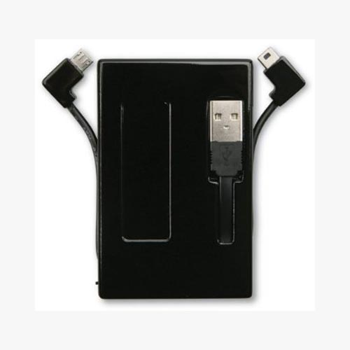 Original Kensington Universal Pocket Battery w/ Micro & Mini USB Cables, K38056US - Black (1200 mAh)