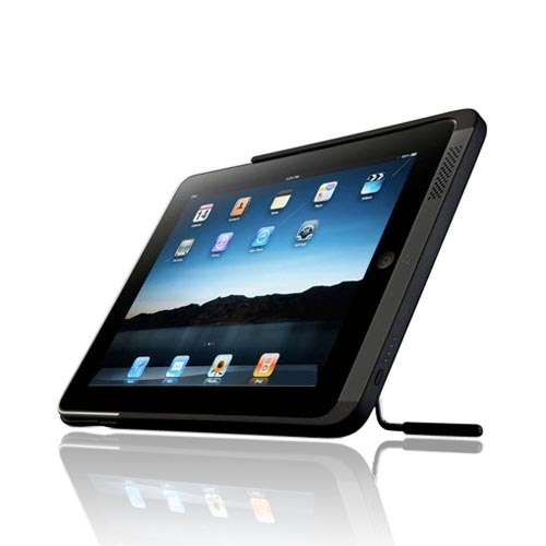 Original Kensington Apple iPad (1st Gen) Rubberized Battery Case w/ Stand and Micro USB Cable (4200mAh), K39249US - Black