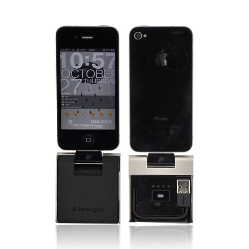 Original Kensington Universal Apple PowerLift Back-Up Battery, Dock, & Stand, K39253US - Black/ Silver