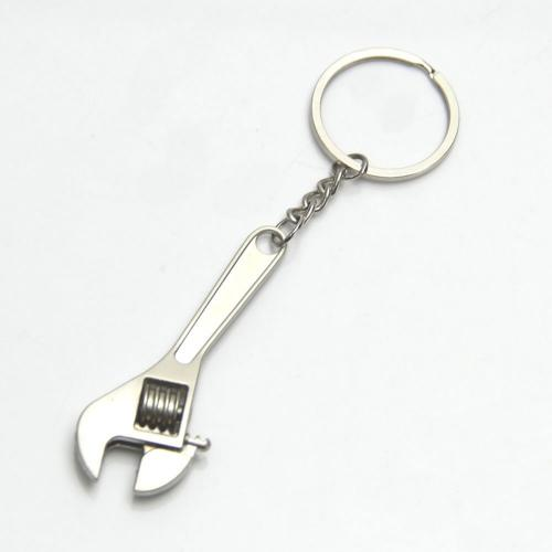 Metal Multi-Function Adjustable Wrench Spanner Keychain