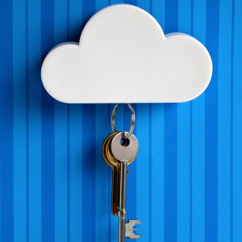 Universal White Cloud Magnetic Key Holder - A great way to keep your keys in place!