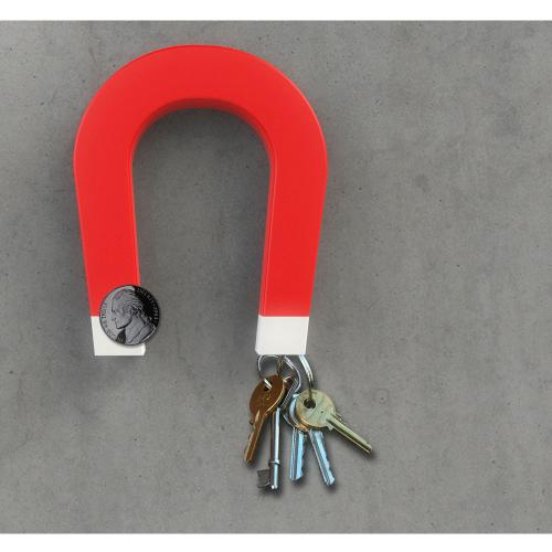 Universal Red U Shaped XXL Magnetic Key Holder - A great way to keep your keys in place!
