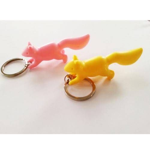 Yellow Squirrel and Branch Keyring Set - A great way to keep your keys in place!