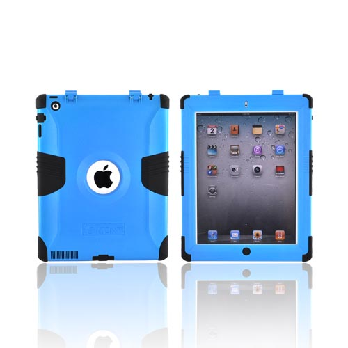 Original Trident Kraken Apple iPad 2 Hard on Silicone Case w/ Built-In Screen Protector, KKK2-IPAD-2-BL - Blue/ Black