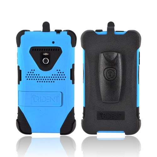 Original Trident Kraken LG Revolution, LG Esteem Anti-Skid Hard Cover on Silicone Case w/ Screen Protector, Kickstand, & Holster, KKN2-LG-REV-BL - Blue/ Black
