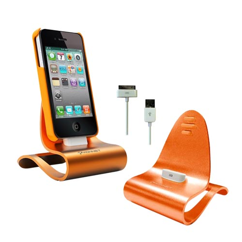 Original Konnet iPhone/iPod iCrado Plus Dock & Charger, KN-8288NA-11 - Orange Lava