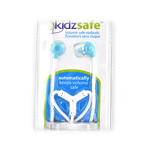 Original KonoAudio KidzSafe Volume Safe Earbud Headphones, 3.5mm KN-2010-BLU - Baby Blue