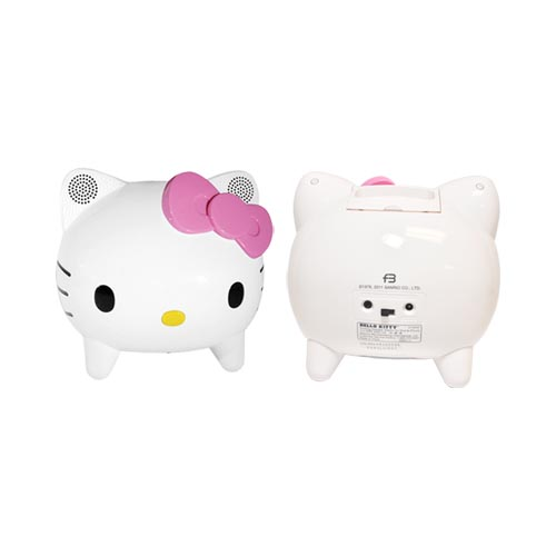 Officially Licensed Hello Kitty iPhone/ iPod (All Gen.) Portable Hi-Fi Speaker System & Dock w/ Remote, KT4558 - Pink/ White