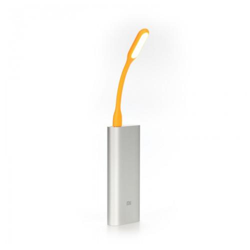 Orange Flexible LED USB Mini Lamp for Smartphones, Laptops, Tablets [Protects your eyes from the brightness of your phone in the dark]