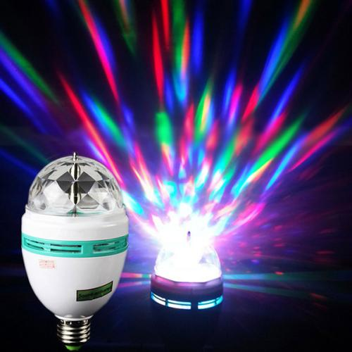 Universal LED Colorful Rotating Disco Lamp Light - Bring the Party with you!