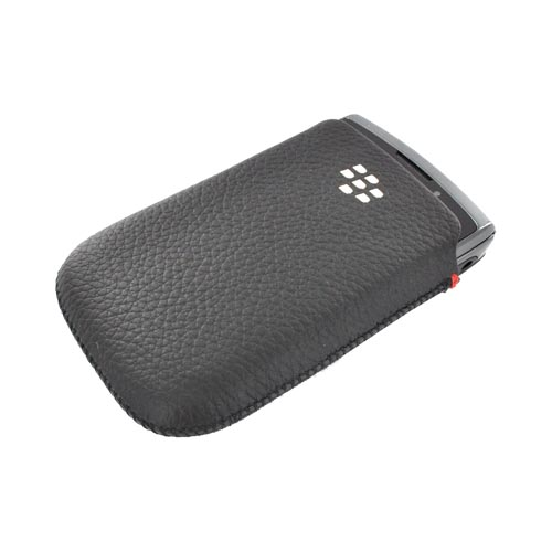 Original Blackberry Torch 9800 Leather Pocket Pouch - Black