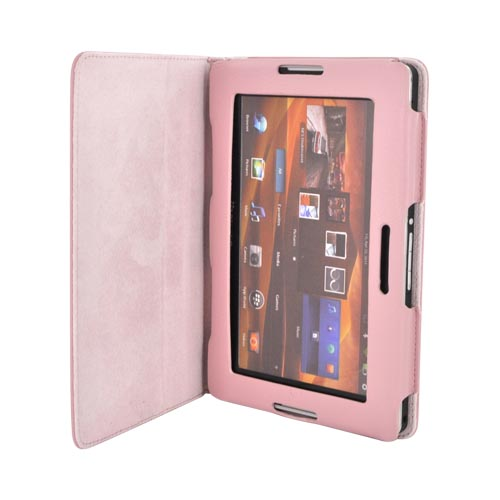 Premium Blackberry Playbook Leather Stand Case w/ Magnetic Closure - Baby Pink