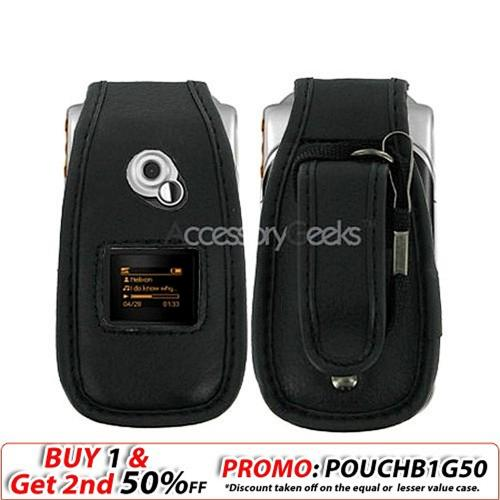 Sony Ericsson W300 Leather Case - Black