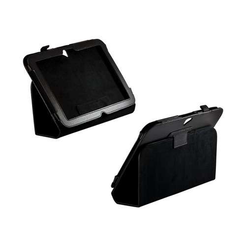 Black Leather Case Stand w/ Magnetic Closure for Google Nexus 10