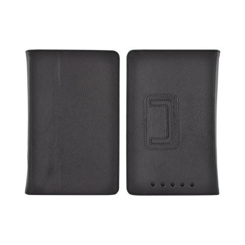 Google Nexus 7 Leather Stand Case w/ Magnetic Closure - Black