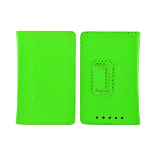 Google Nexus 7 Leather Stand Case w/ Magnetic Closure - Green