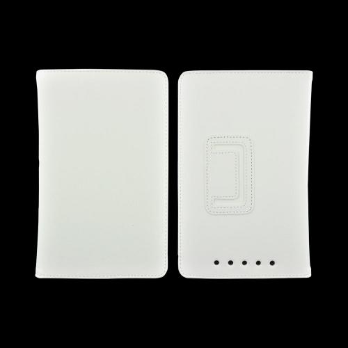 Google Nexus 7 Leather Stand Case w/ Magnetic Closure - White