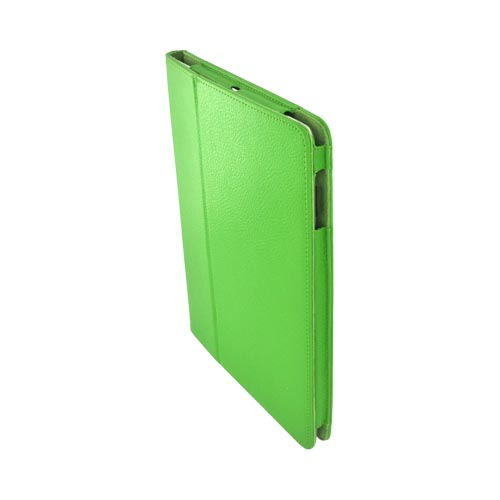 Premium Apple iPad 2/ New iPad Leather Case Stand w/ Magnetic Closure - Lime Green