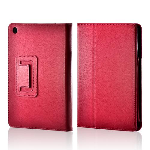 Rose Pink Leather Stand Case w/ Magnetic Closure for Apple iPad Mini