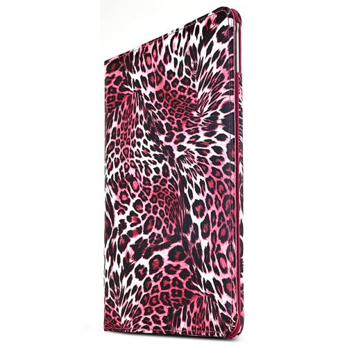 iPad Air 2 Case [Pink Leopard] Slim Protective PU Leather Tablet Case w/ Stand and Rotatable Shield [Perfect Fitting Apple iPad Air 2 Case]