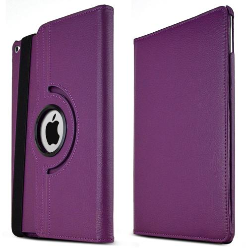 iPad Air 2 Case [Purple] Slim Protective PU Leather Tablet Case w/ Stand and Rotatable Shield [Perfect Fitting Apple iPad Air 2 Case]