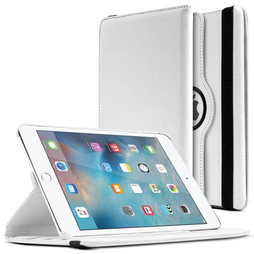 iPad Mini 4 Case [White] Slim Protective PU Leather Tablet Case w/ Stand and Rotatable Shield [Perfect Fitting Apple iPad Mini 4 Case]