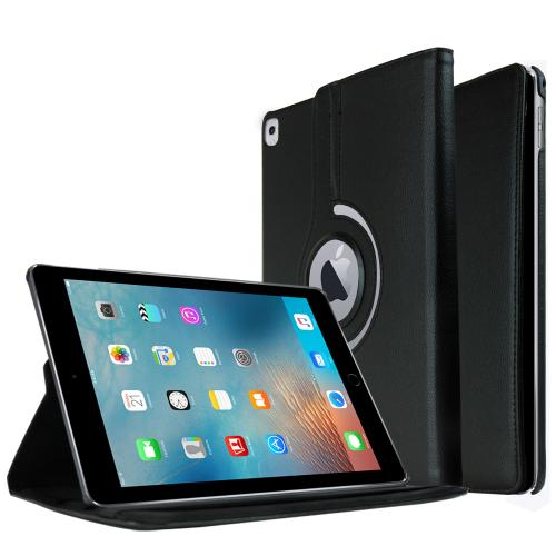 Apple iPad Pro 9.7 inch Case, [Black] Slim Protective PU Leather Tablet Case w/ Stand and Rotatable Shield