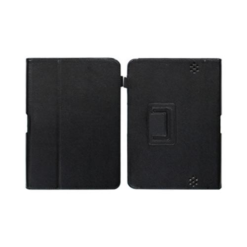 Black Leather Case Stand w/ Magnetic Closure for Amazon Kindle Fire HD 8.9