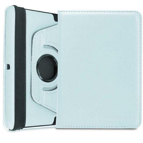 Baby Blue Faux Leather Case Stand w/ Rotatable Shield for Amazon Kindle Fire HD 2012