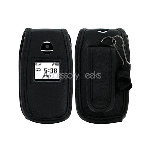 LG CE110 Leather Case w/ Belt Clip - Black