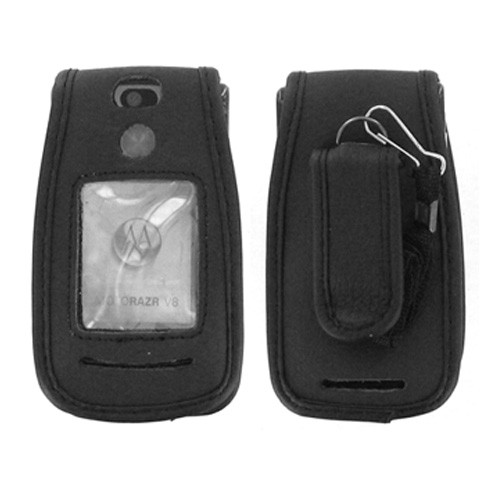 Motorola RAZR2 V8 Leather Case - Black