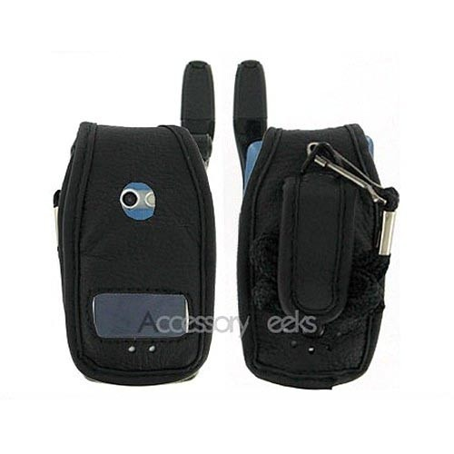 Nextel i830 Black Leather Case