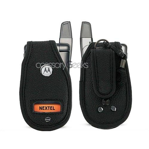 Nextel i836 Black Leather Case