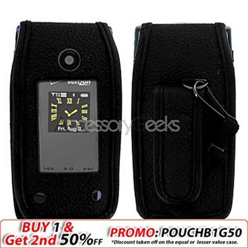 Samsung U700 Leather Case - Black