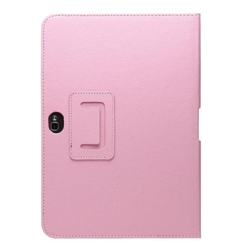 Pink Faux Leather Case Stand w/ Magnetic Closure for Samsung Galaxy Note 10.1