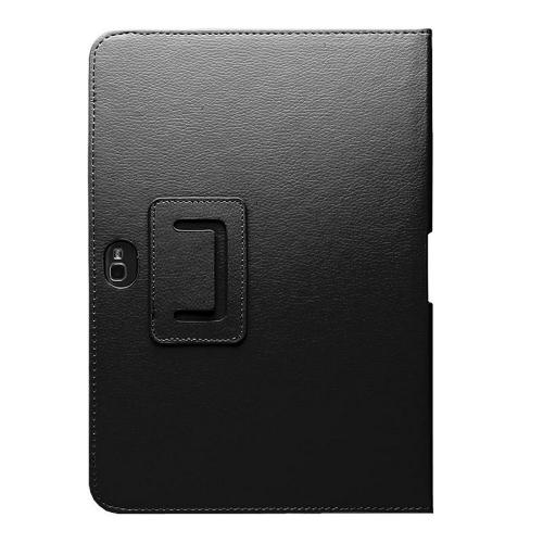 Black Faux Leather Case Stand w/ Magnetic Closure for Samsung Galaxy Note 10.1
