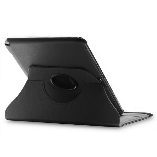 Black Faux Leather Case Stand w/ Rotatable Shield for Samsung Galaxy Note 10.1
