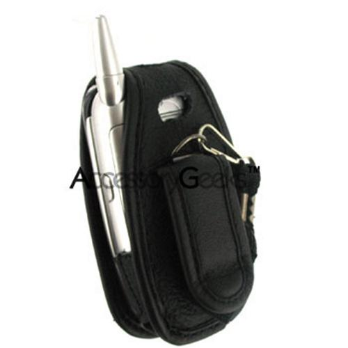 Sanyo 8400 Leather Case - Black