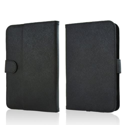 "Black Faux Leather Case Stand for Universal Tablets 7""-8"" (Like iPad Mini 1 & 2, Nexus 7 2, & Samsung Galaxy Tab 3 7.0)"