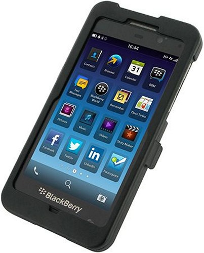 OEM Monaco Black Aluminum Case w/ Open Screen Design for Blackberry Z10