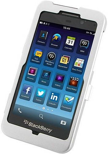 OEM Monaco Silver Aluminum Case w/ Open Screen Design for Blackberry Z10